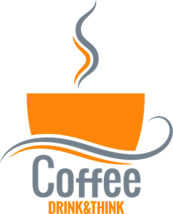 Creative Coffe Drink & Think Logo Vector