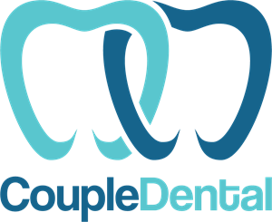 Creative couple dental Logo Vector