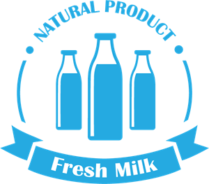 Creative milk Logo Vector