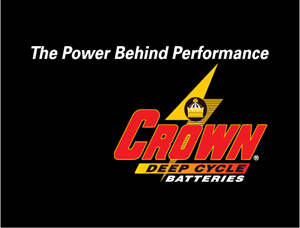 Crown Battery-Deep Cycle Logo Vector
