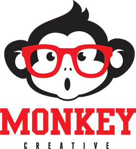 Cute monkey with glasses Logo Vector