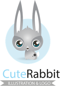 Cute rabbit Logo Vector