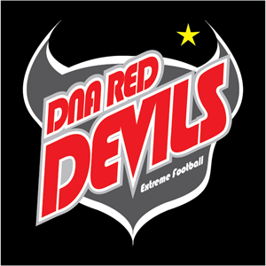 DNA Red Devils Logo Vector