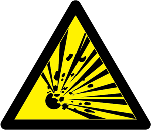 Danger - Explosive! (colour) Logo Vector
