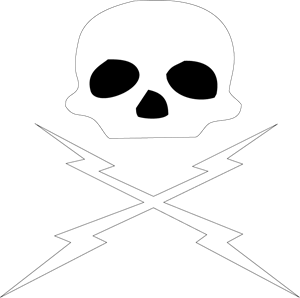 Death Proof Skull and Bolts Logo Vector