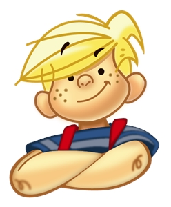 Dennis the Menace Logo Vector