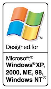 Designed for Microsoft Windows Logo Vector