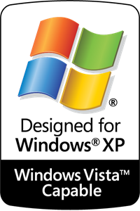 Designed for Windows XP - Vista Capable Logo Vector