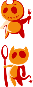 Devil Cuties Logo Vector