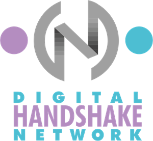 Digital Handshake Network Logo Vector