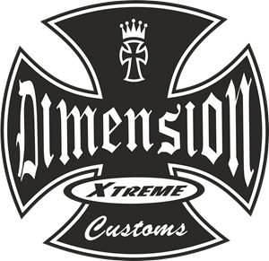 Dimension Xtreme Customs Logo Vector