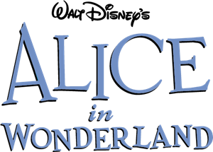 Disney's Alice in Wonderland Logo Vector