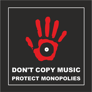 Don't Copy Music Logo Vector
