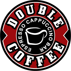 Double Coffee Logo Vector