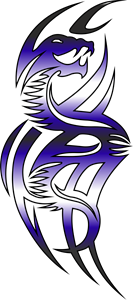 Dragon Tattoo Logo Vector