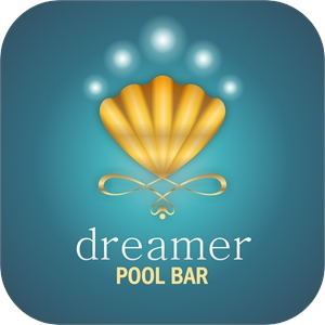 Dreamer Pool Bar Logo Vector