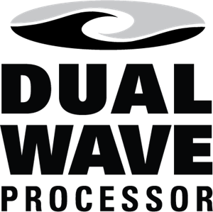 Dual Wave Processor Logo Vector