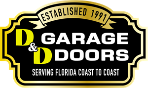 D and D Garage Doors Logo Vector