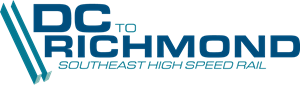 D.C. to Richmond Southeast High Speed Rail Logo Vector