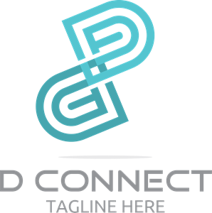 D Connect Logo Vector