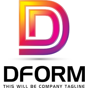 D Letter Business Logo Vector