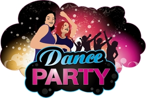Dance Party Logo Vector