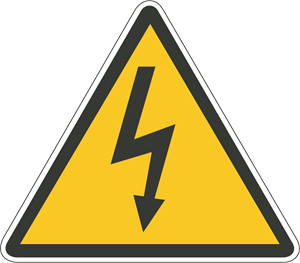 DANGER ELECTRICITY SIGN Logo Vector
