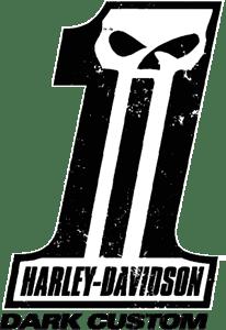 dark custom harley davidson logo vector   eps  free download harley skull logo vector logo harley vectoriel