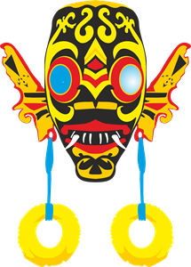 dayak mask Logo Vector