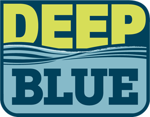 Deep Blue Kids Logo Vector