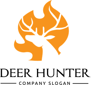 Deer Hunter Logo Vector