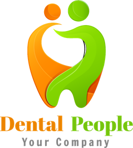 Dental with people Logo Vector