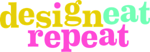 Design Eat Repeat Logo Vector