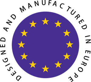 Designed and Manufactured in Europe Logo Vector