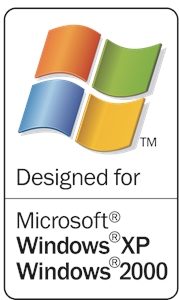 Designed for Microsoft Windows XP Logo Vector
