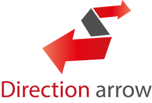 Direction Arrow Logo Vector