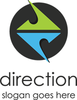 Direction Logo Vector