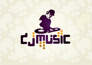 DJ Music Logo Vector