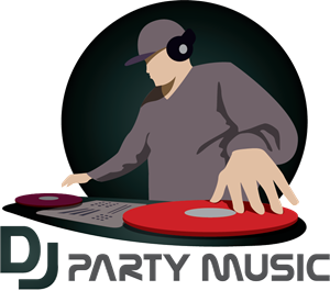 DJ Party Logo Vector