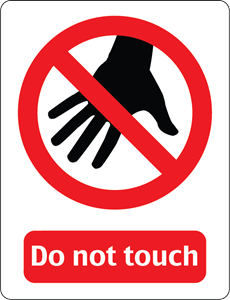 DO NOT TOUCH SIGN Logo Vector