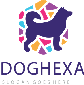 dog hexa Logo Vector