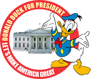 Donald Duck For President Logo Vector