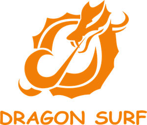 Dragon Surf Logo Vector