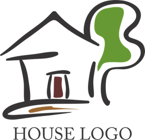 Drawing House Logo Vector
