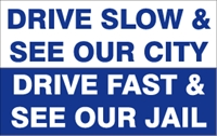 Drive slow and see our city Logo Vector