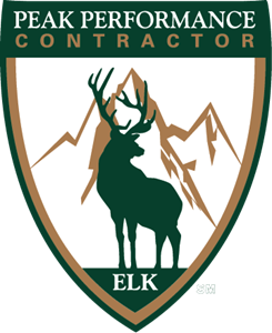 Elk Peak Performance Contractor Logo Vector