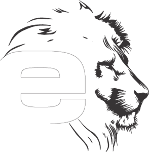 E Lion Logo Vector