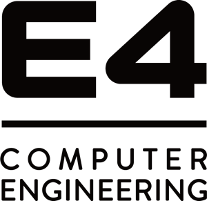 E4 Computer Engineering Logo Vector