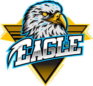 Eagle head gaming maskot Logo Vector