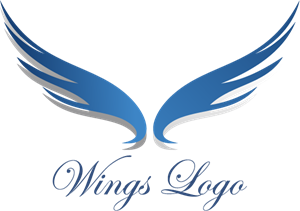 Eagle Wings Art Logo Vector